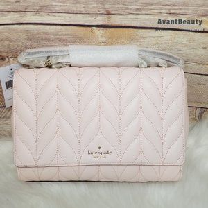 Kate Spade Emelyn Briar Lane Quilted Pink Puff
